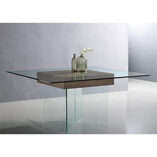 Whiteline Modern Living Roxana Walnut Dining Table