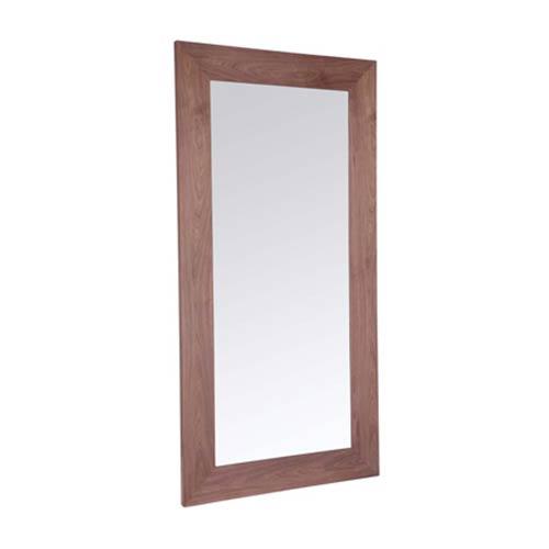 Whiteline Modern Living Fox Natural Walnut Veneer Frame Mirror