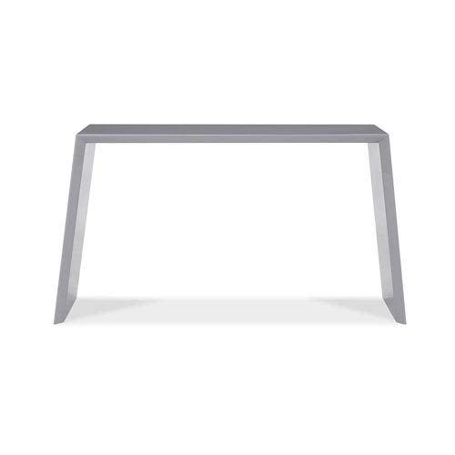 Whiteline Modern Living Emily Mirrored Console Table, High Gloss Gray  Lacquer