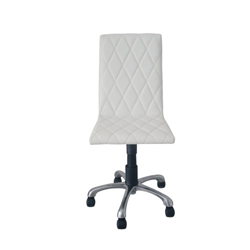 Whiteline Modern Living Julian Armless Office Chair White Faux Leather
