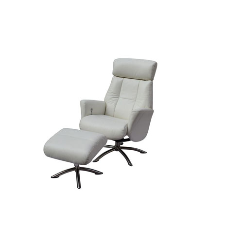 Addison White Recliner Armchair and Ottoman