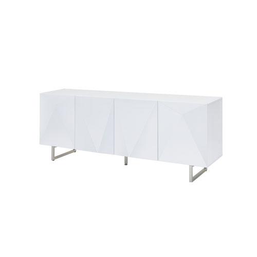 Whiteline Modern Living Paul High Gloss White 32-Inch Buffet
