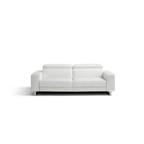 Augusto White Recliner Sofa