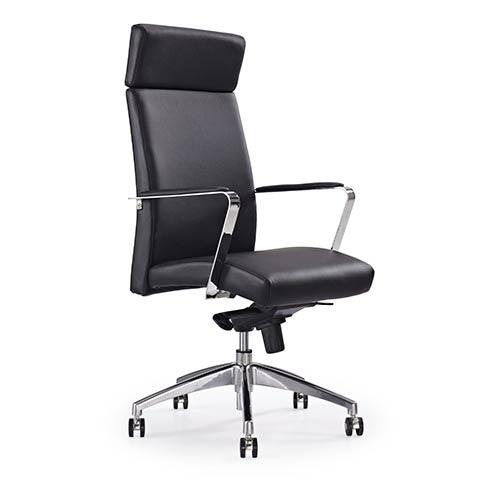 Whiteline Modern Living Clemson Black Leatherette High Back Office Chair