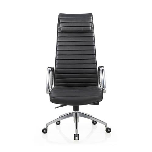 Whiteline Modern Living Oxford Black Leatherette High Back Office Chair