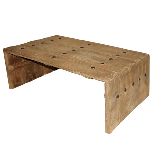 Beige 39-Inch Coffee Table