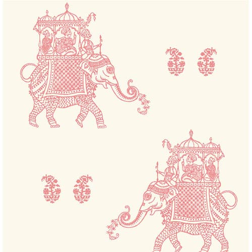 Ophelia Pink Elephant Wallpaper