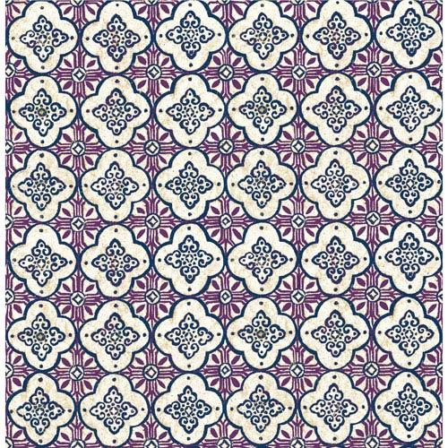 Geo Violet Quatrefoil Wallpaper