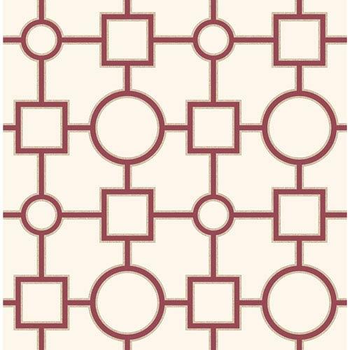 Matrix Burgundy Geometric Wallpaper