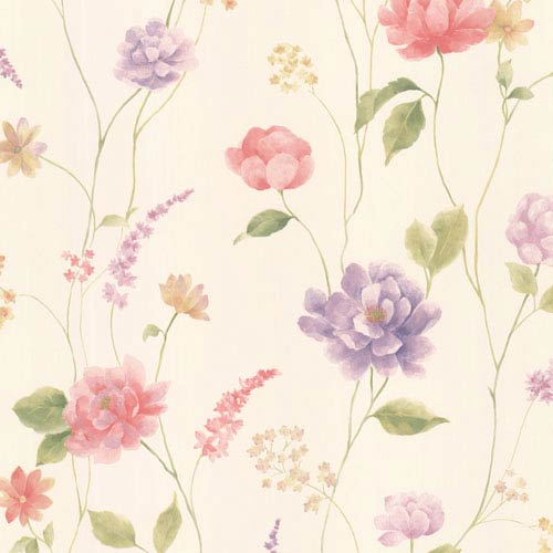 Hanne Pink Floral Pattern Wallpaper
