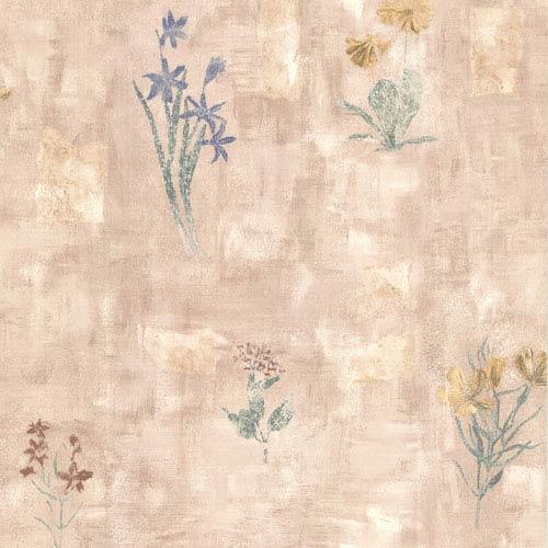 Twain Mauve Terracotta Wildflower Wallpaper