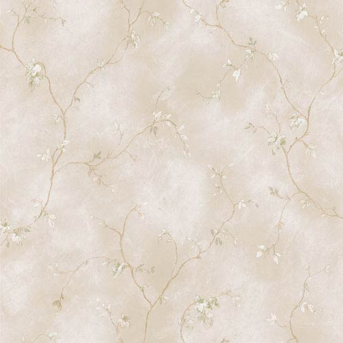 Naylor Beige Small Branch Trail Wallpaper