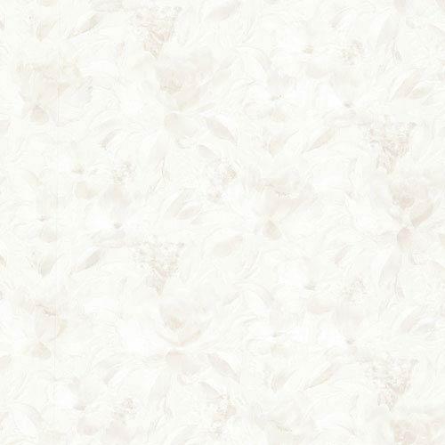 Stafford Cream Satin Floral Wallpaper