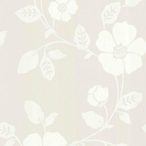 Sayles Cream Modern Poppy Floral Wallpaper