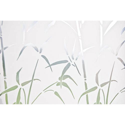 Grey Bamboo Door Privacy Film