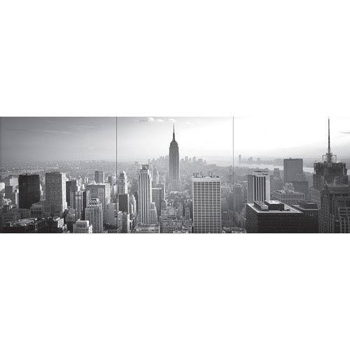 Grey New York Panoramic Wall Decal