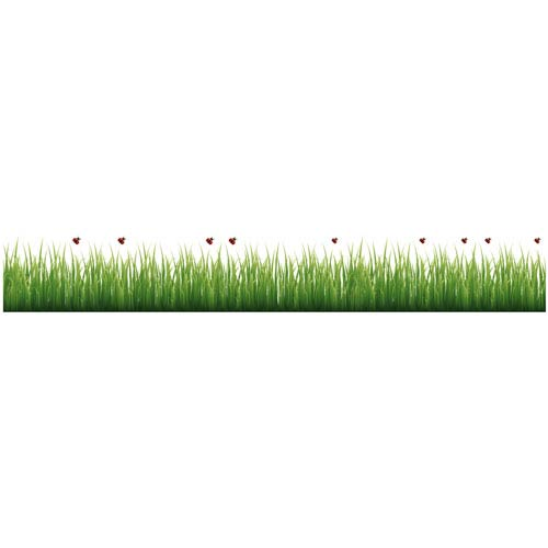 WallPops! Grass and Ladybugs Border Decal