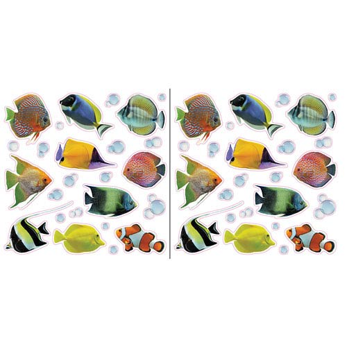 Fish and Bubbles Window Decals
