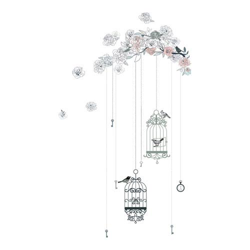 Birds and Cages Wall Decals