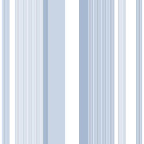 WallPops! Blue Awning Stripe Peel and Stick Wallpaper