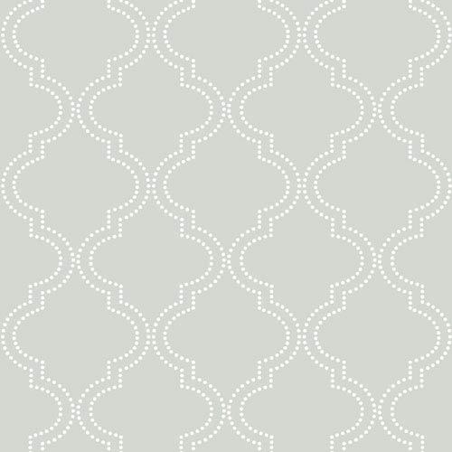 WallPops! Grey Quatrefoil Peel and Stick Wallpaper