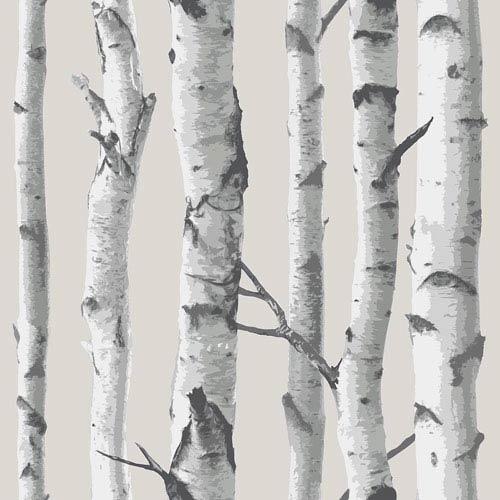 WallPops! Birch Tree Peel and Stick Wallpaper