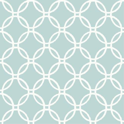 WallPops! Blue Links Peel and Stick Wallpaper