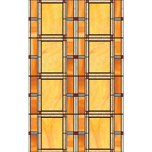 Arts and Crafts Stained Glass Window Film, Set of Two