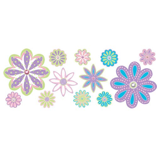 Patchwork Daisy Blox Decals, Set of 8
