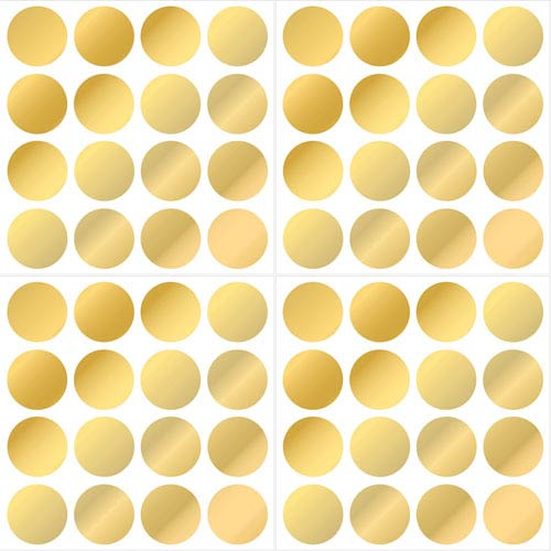 Gold Foil Confetti Dot Wall Decals, Set of Two