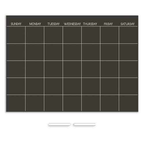 Chalkboard Monthly Dry Erase Calendar Decal