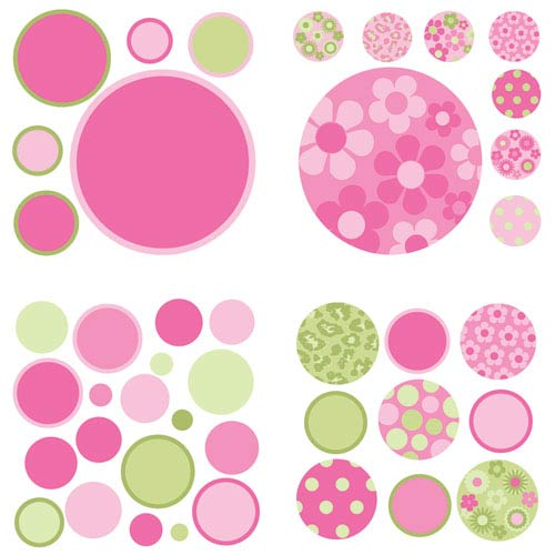 Pink and Green Gone Dotty MiniPops