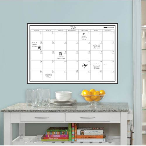 Dry Erase White Calendar Decal