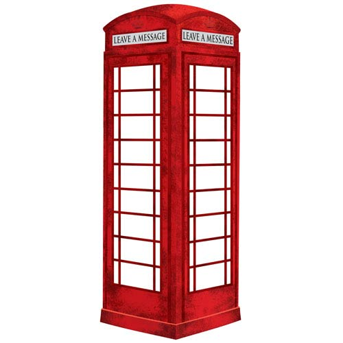 Red Giant London Phone Booth Novelty Dry Erase Decal