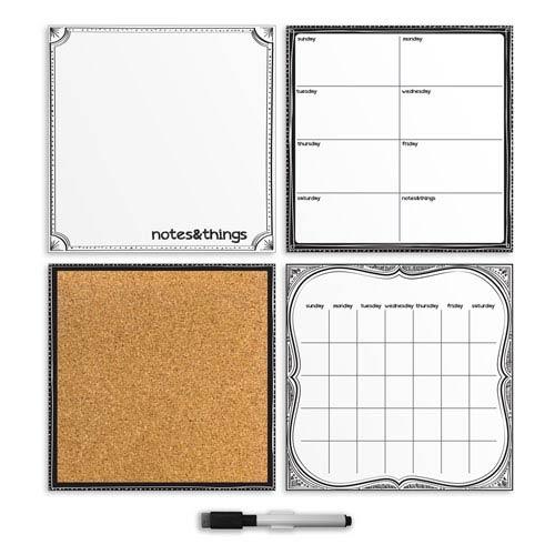 White Four-Piece Organizer Set