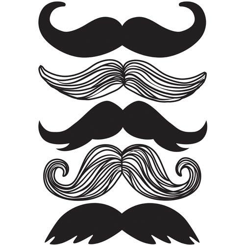 Mustache Wall Art Kit