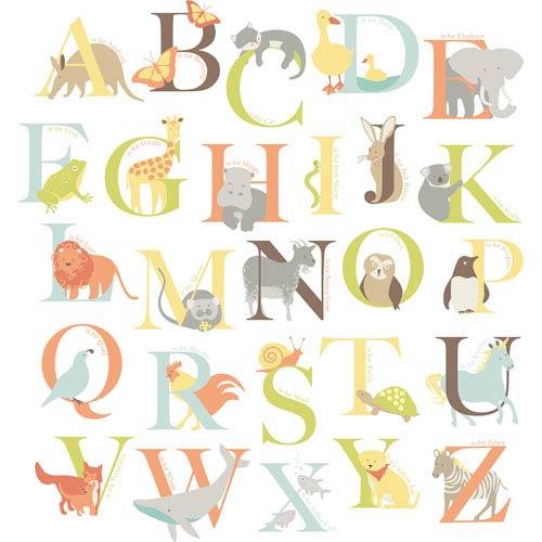 WallPops! Alphabet Zoo Wall Art Kit