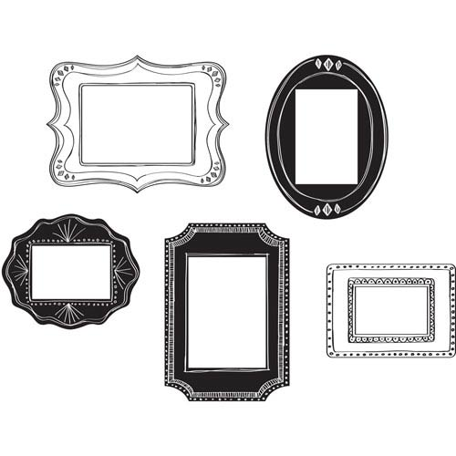 Black Sketch It Frame Small Wall Art Kit
