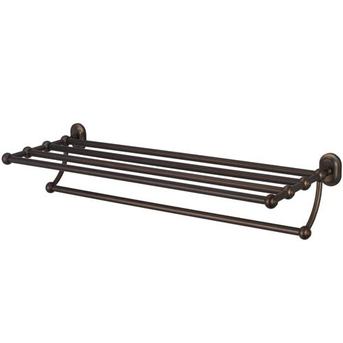 Glass Series Accessories Oil Rubbed Bronze with Protective Coating 29-Inch Towel Rack Shelf