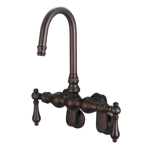 Vintage Classic Oil Rubbed Bronze with Protective Coating Lever Handles Clawfoot Tub Filler