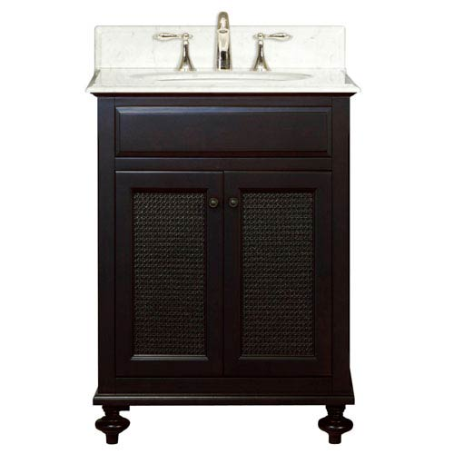 London Espresso Single Sink 24-Inch Bathroom Vanity