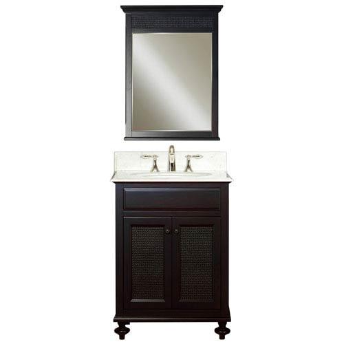 London Espresso Single Sink 24 Inch Bathroom Vanity Combo