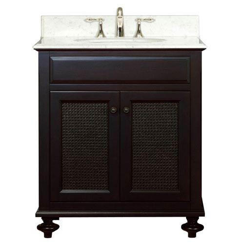 London Espresso  Single Sink 30-Inch Bathroom Vanity