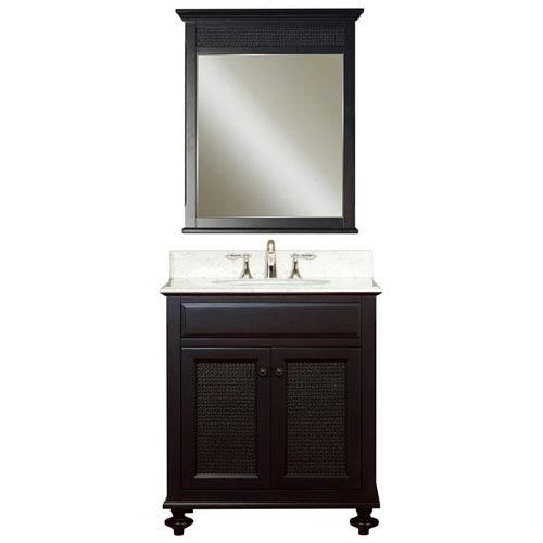 London Espresso Single Sink 30-Inch Bathroom Vanity Combo