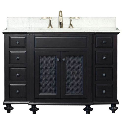 Water Creation London Espresso Single Sink 48 Inch Bathroom Vanity