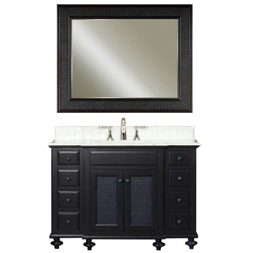 Water Creation London Espresso Single Sink 48-Inch Bathroom Vanity Combo