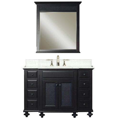 London Espresso Single Sink Bathroom Vanity Combo