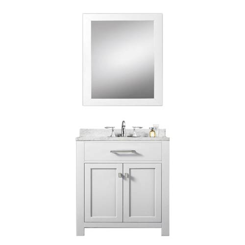 Water Creation Madison Pure White 30 Inch Single Sink Bathroom ... on black single sink bathroom vanity, white single sink bathroom vanity, 30 inch white bathroom vanity, small single sink bathroom vanity, large single sink bathroom vanity,