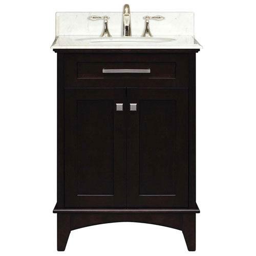 Water Creation Manhattan Espresso Single Sink 24 Inch Bathroom Vanity