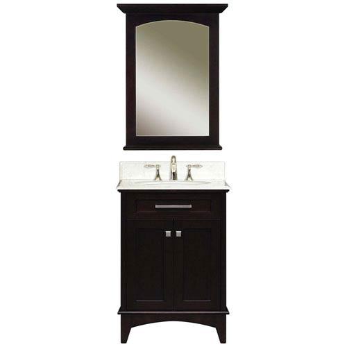 Manhattan Espresso  Single Sink 24-Inch Bathroom Vanity Combo